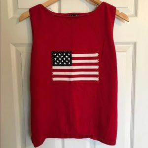 Nice Red White Blue Top